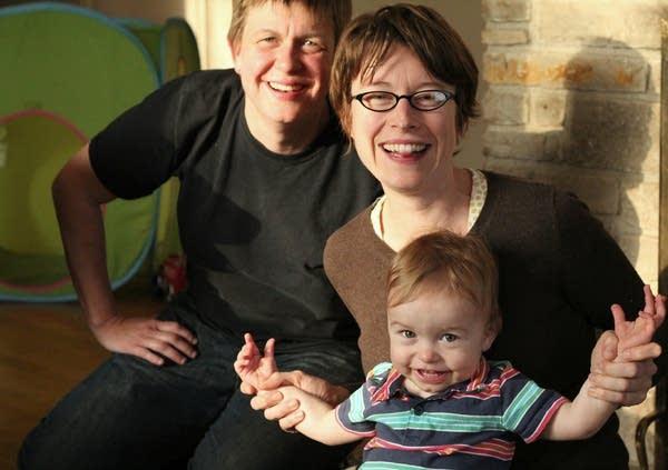 Dee Cadreau, Kelly Maloney and son Arlo