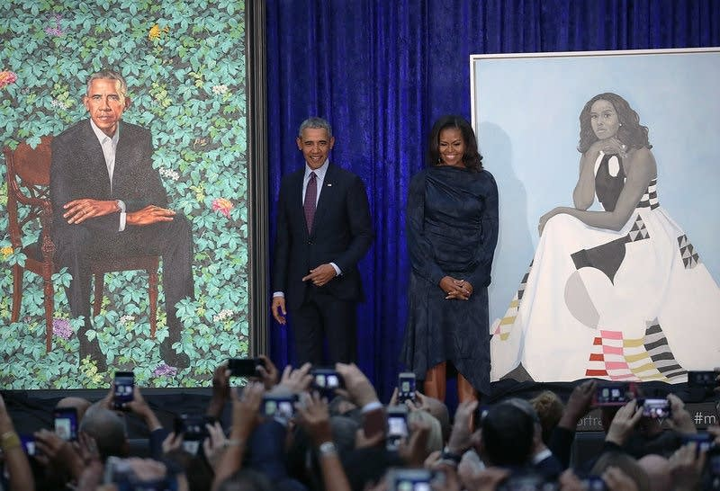 Barack and Michelle Obama portraits unveiled
