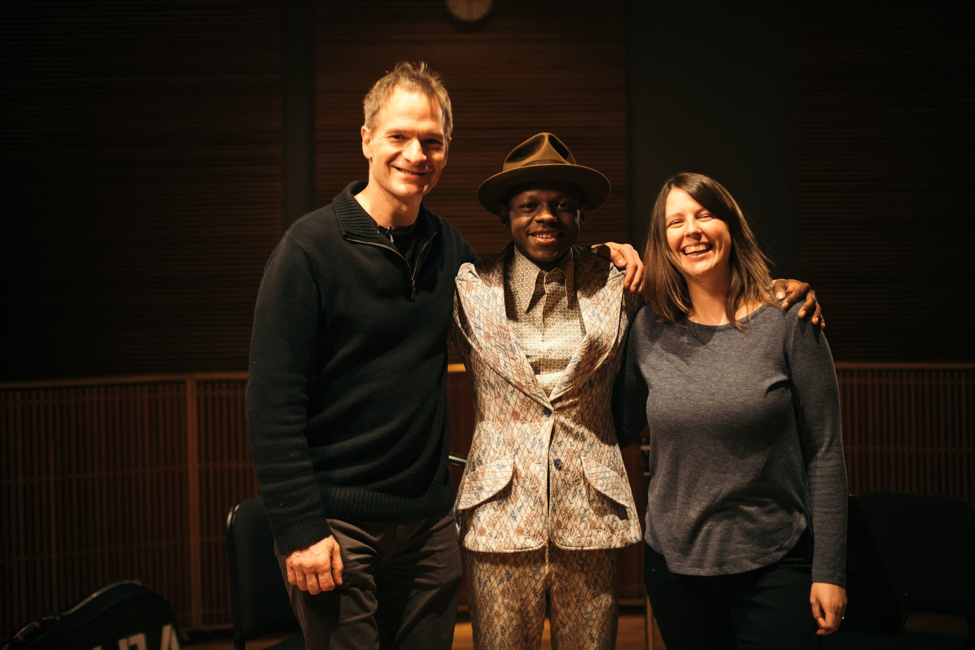 J.S. Ondara with Jim McGuinn and Andrea Swensson