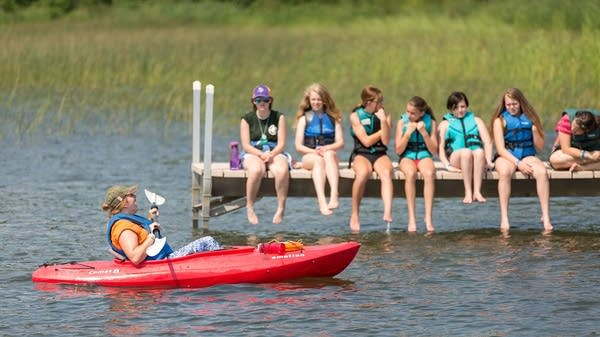 Girl Scouts take part in a summer camp