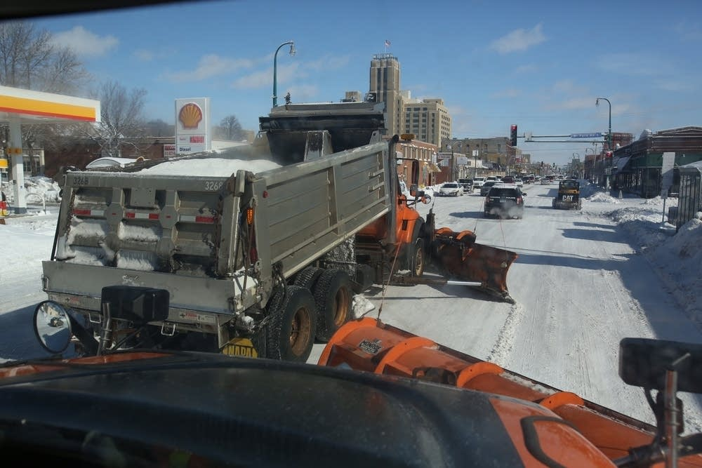 Plowing city streets