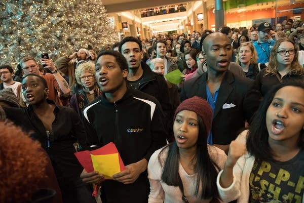 Protesters associated with the Black Lives Matter