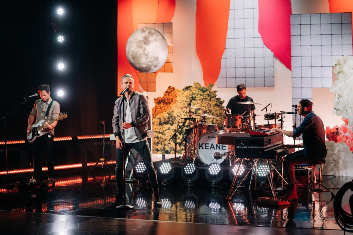 Keane perform on 'The Late Late Show with James Corden'