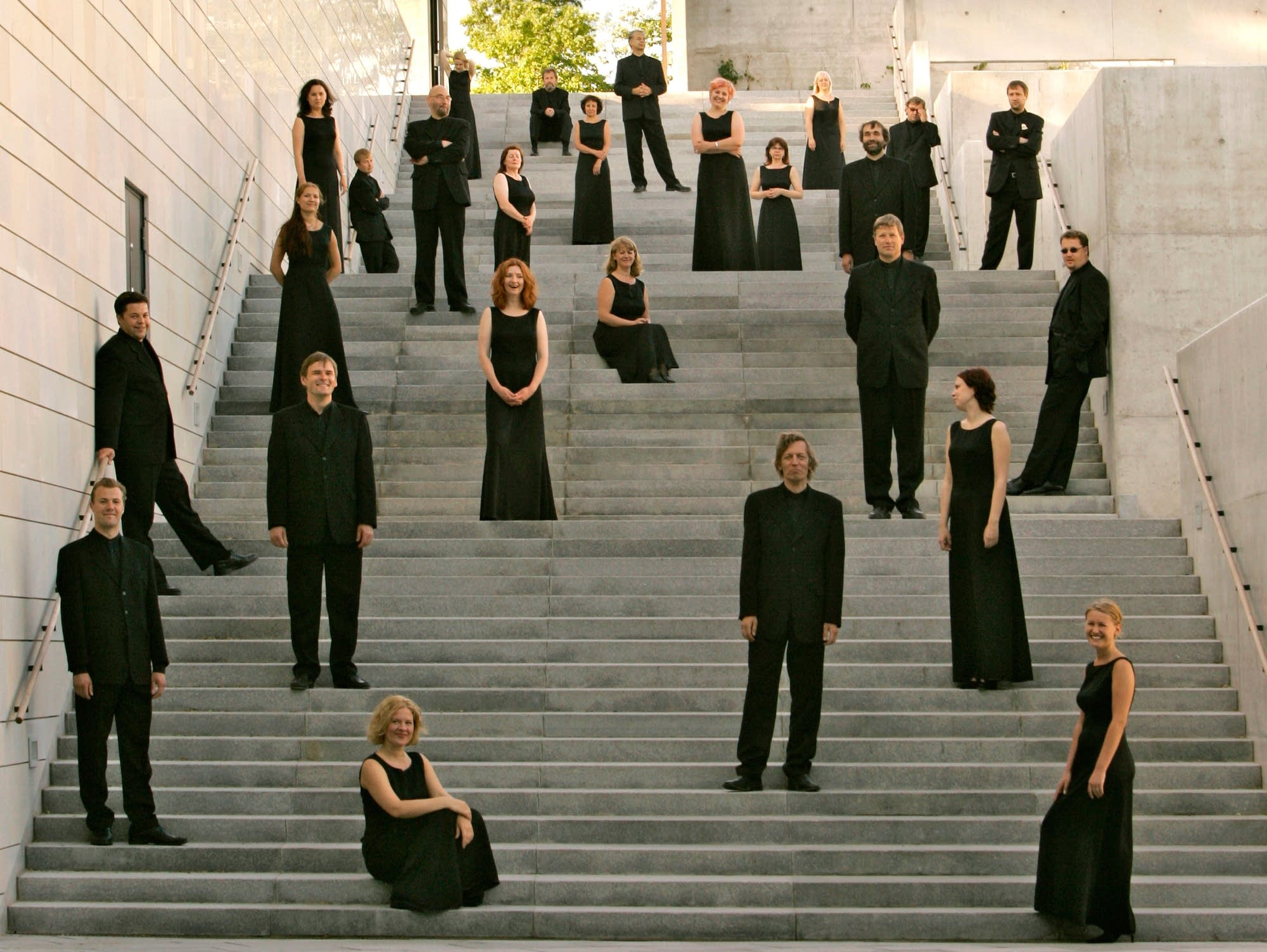 Estonian Philharmonic Chamber Choir, stairs, up