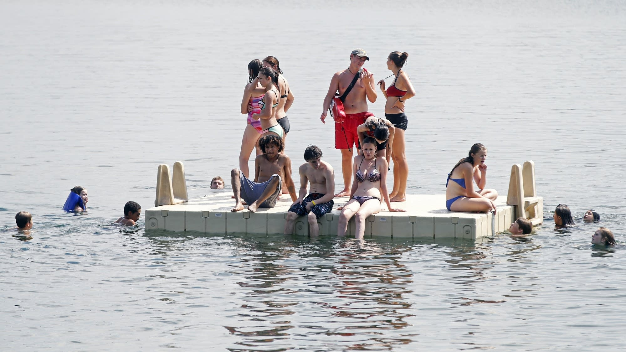 Beating the heat on Lake Harriet