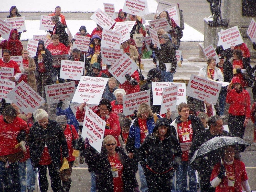 Nurses protest GAMC cuts
