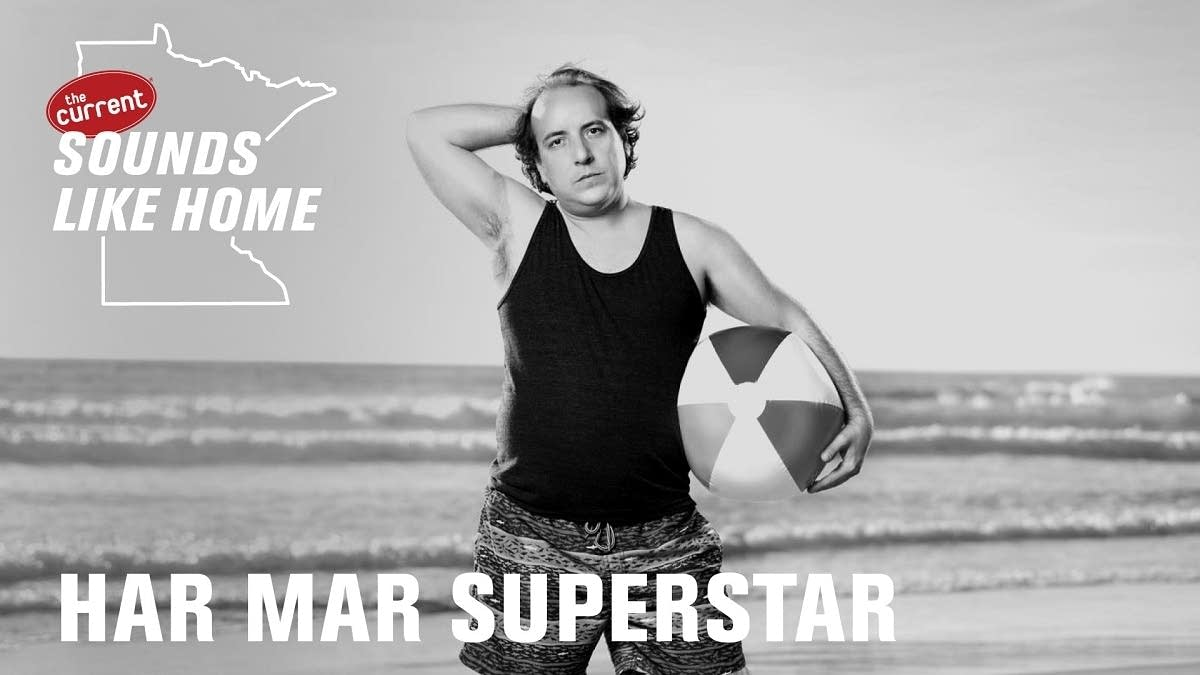 Digital flyer for Har Mar Superstar's Sounds Like Home performance.