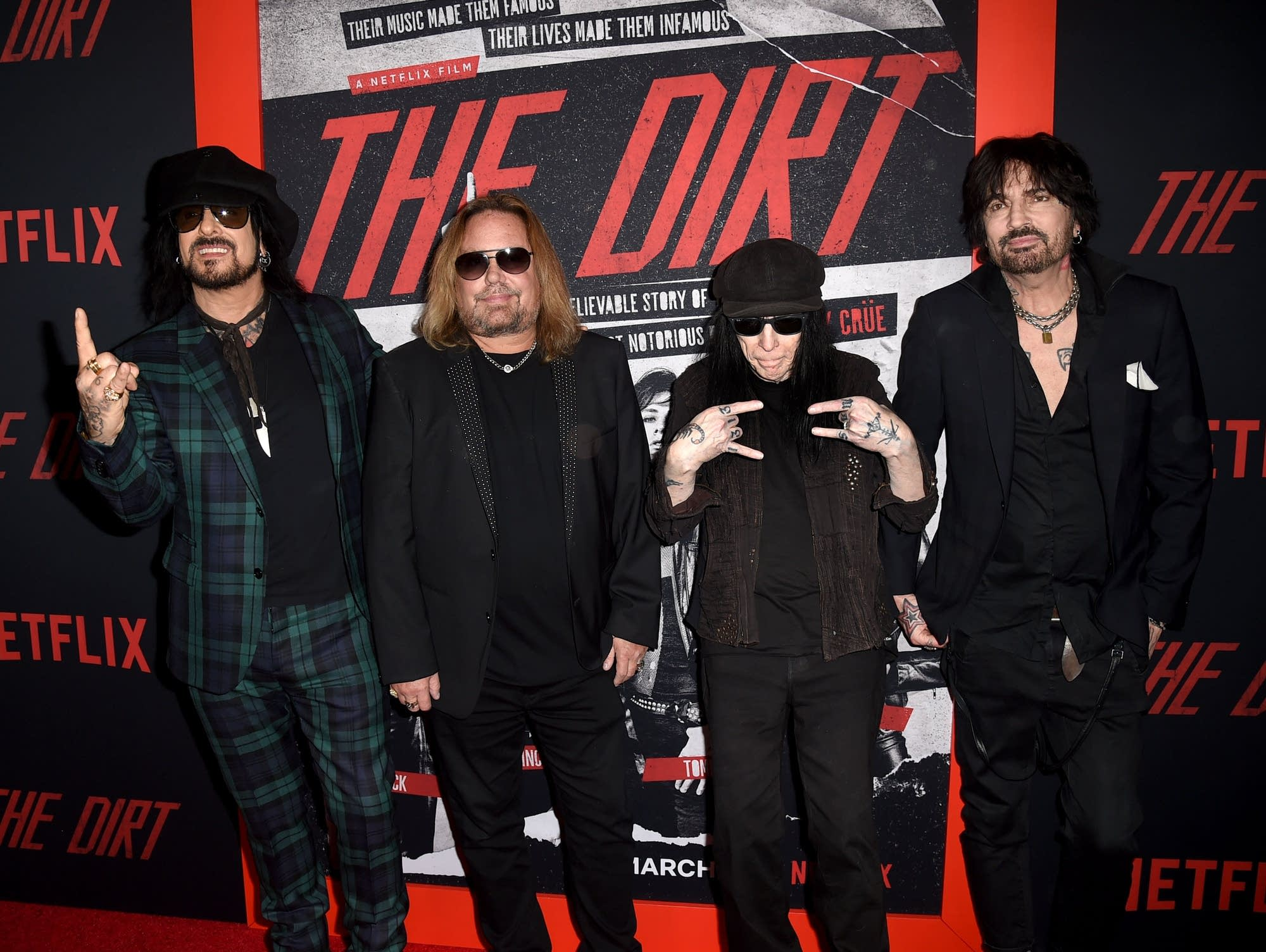 Motley Crue arrive at 'The Dirt' biopic premiere.