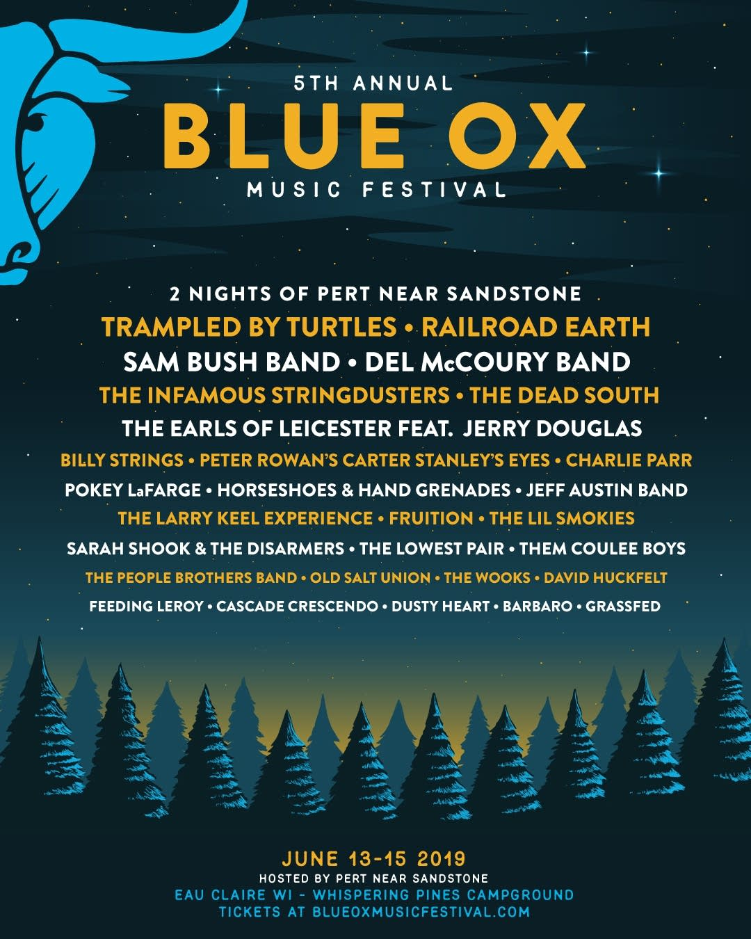 Blue Ox Music Festival June 13-15, 2019