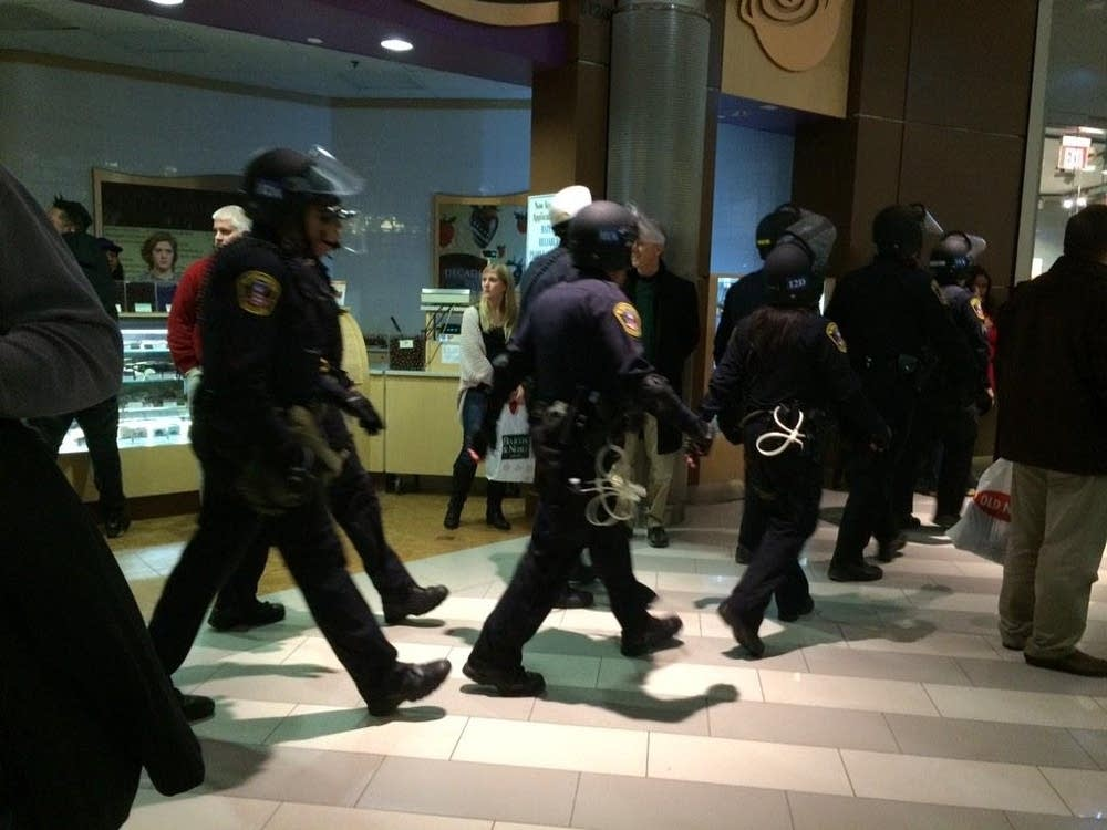 Security was heavy at the Mall of America.