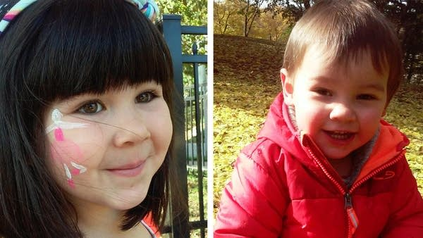 Ariel Haughton's children Rose (left), 4, and Javier, 2.