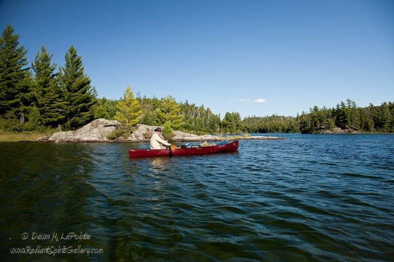 Canoeing Knife Lake