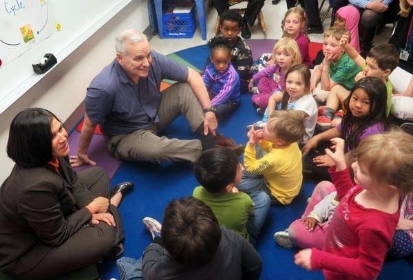 Gov. Mark Dayton talked to a preschool class.