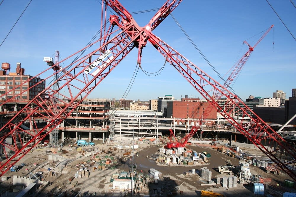 Target Field under construction