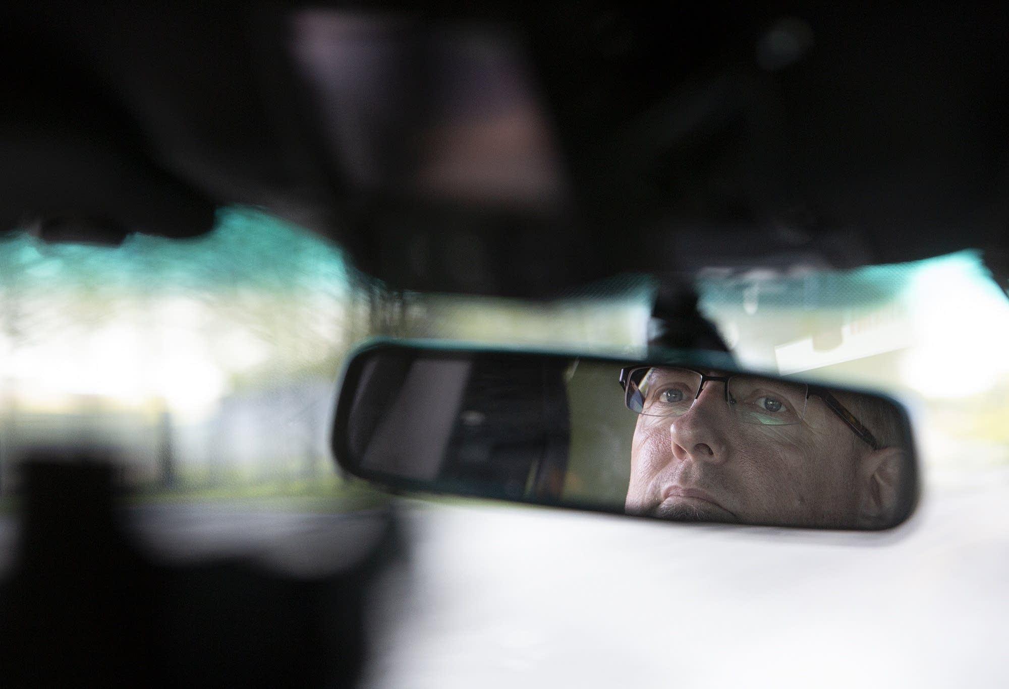 Police Chief Lee Sjolander drives through Kenyon on May 20, 2019.