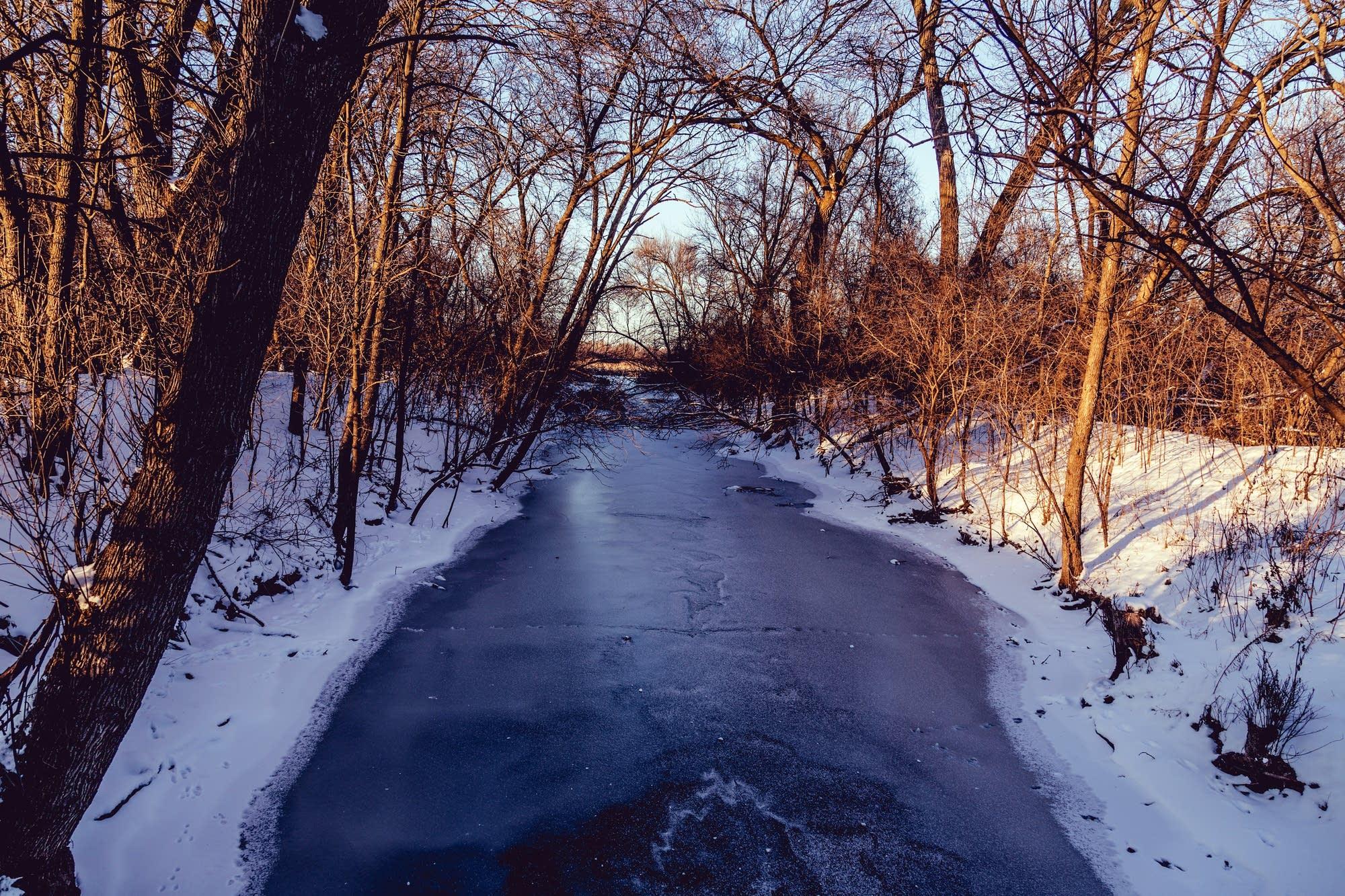 Shingle Creek seen in Palmer Lake Park, Brooklyn Center, Minn.