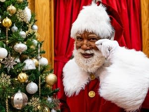 Santa Larry Jefferson stands for a portrait.