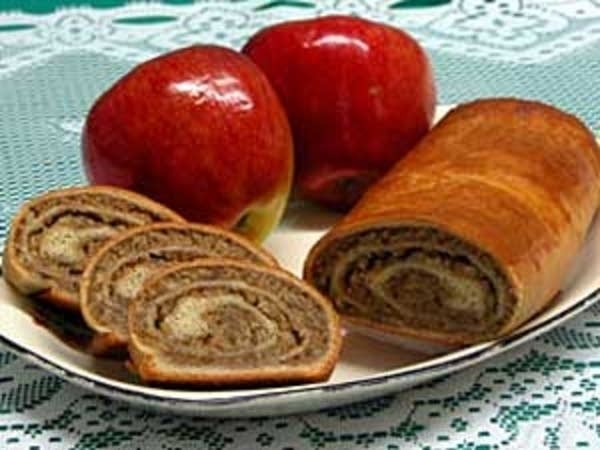 Walnut-filled potica