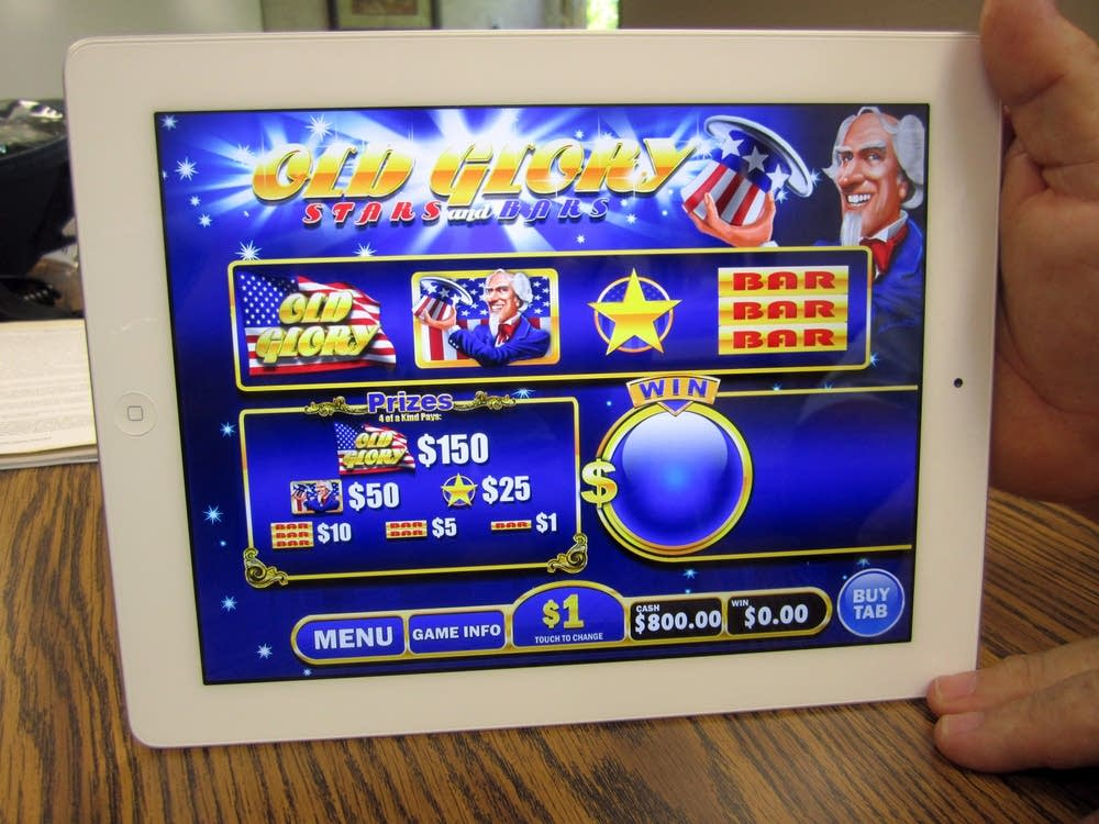 The iPad pull-tab gambling game