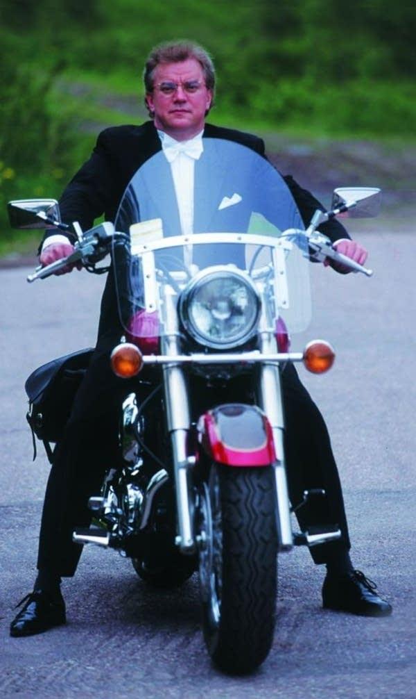 Maestro on motorbike