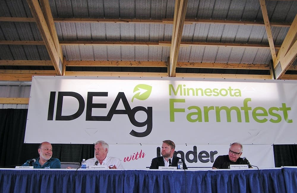 A panel discussion at Farmfest