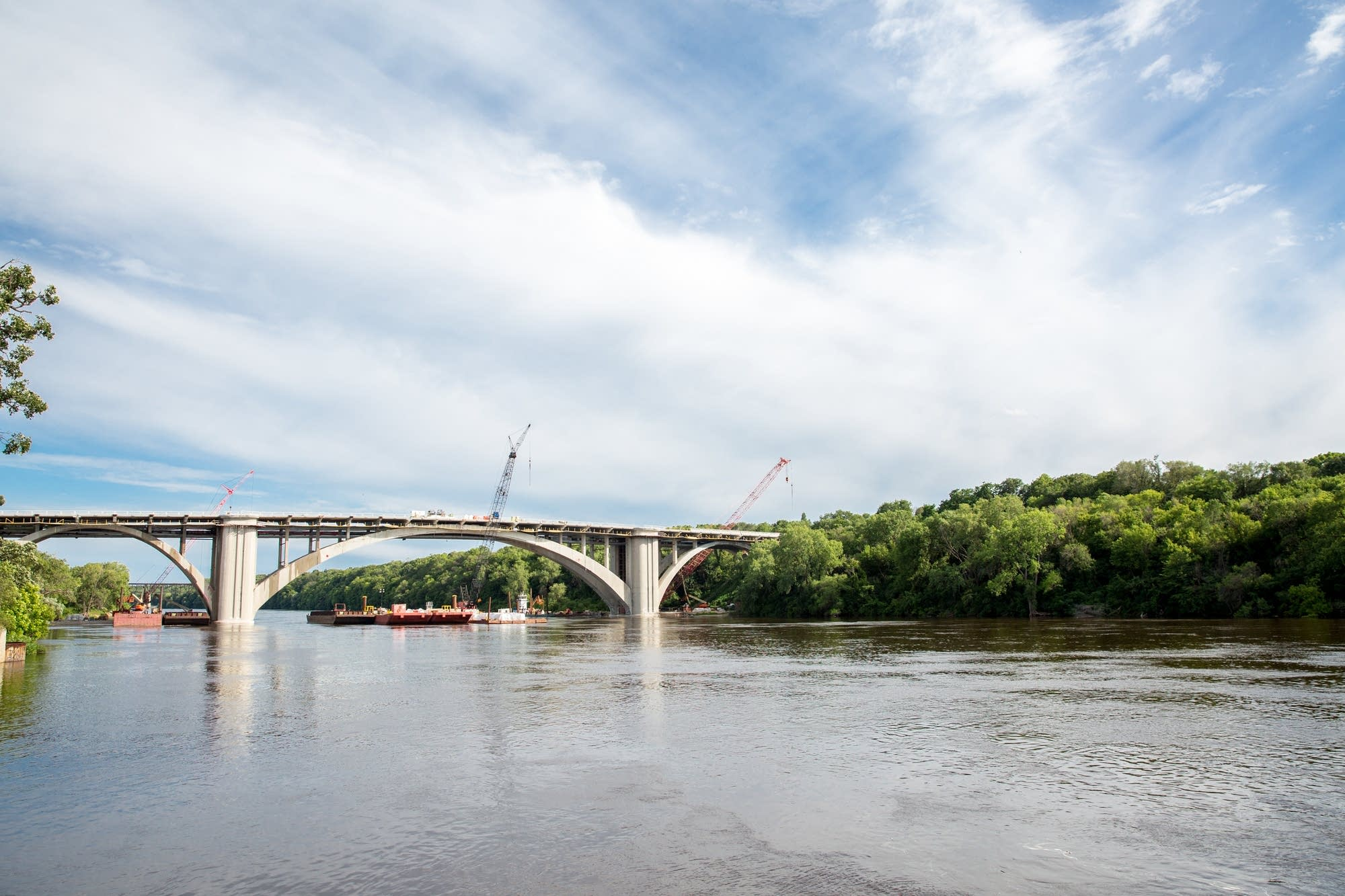 The Franklin Ave. Bridge as seen from the shore