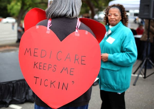 Senior Citizens Rally To Protect Federal Health Pr