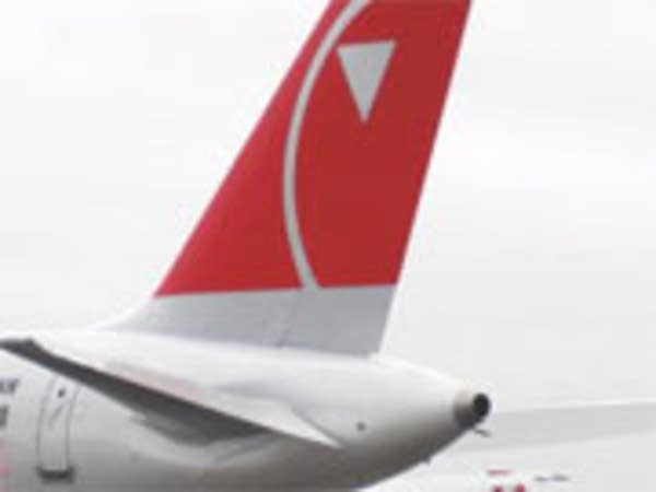 Northwest Airlines plane tail