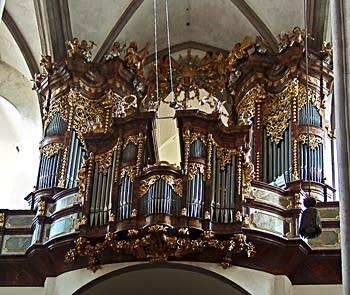 1731 Egedacher organ at the Klosterkirche, Zwettl, Austria
