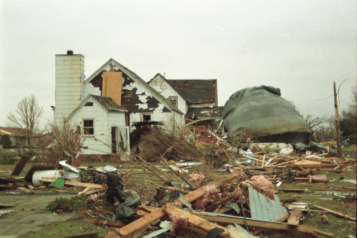 Rubble from the greatest March tornado outbreak