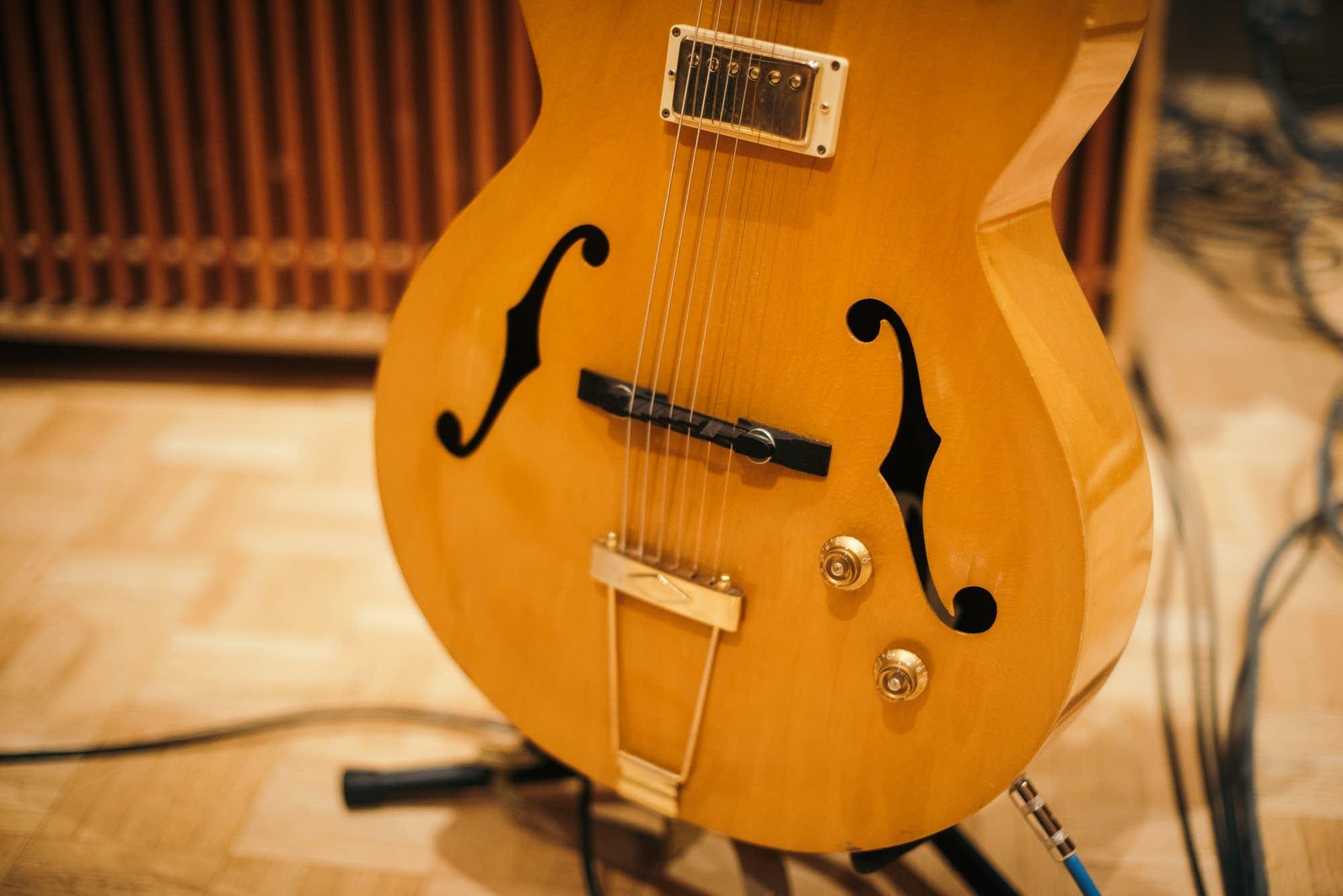 Alynda Segarra's 1950s archtop guitar