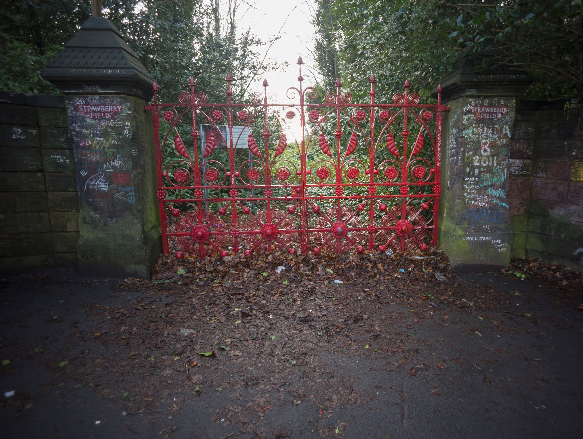 The gates of Strawberry Field in Liverpool.