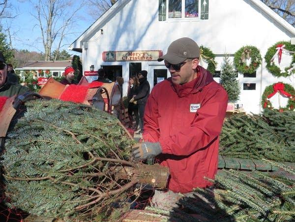 John Krueger, one of the owners of Krueger's Christmas Tree Farm