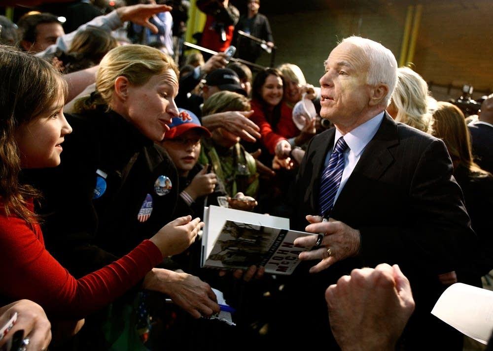 John McCain campaigns in Pennsylvania