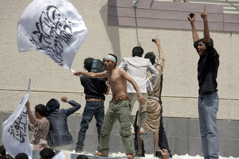 Yemeni protester
