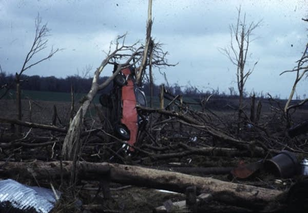 Damage from 1965 tornado