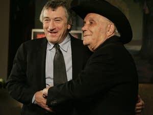 Robert De Niro, left, and boxer Jake LaMotta.