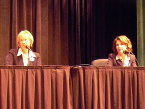 Patty Wetterling and Michele Bachmann
