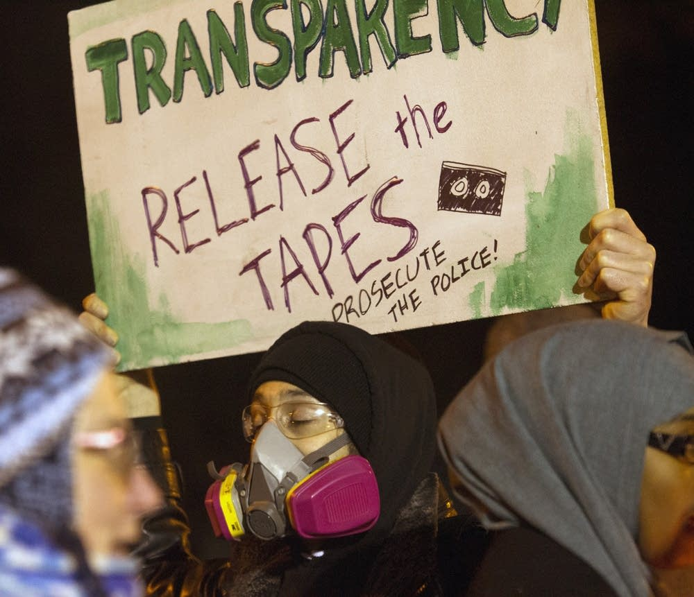 The protest demanded releasing the shooting tapes.