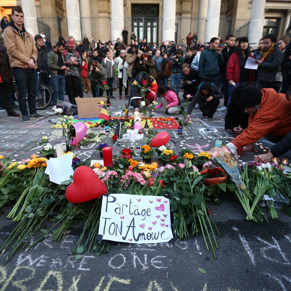 Tributes to Brussels victims