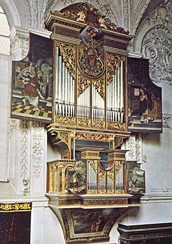 1558 Ebert organ in the Hofkirche, Innsbruck, Austria
