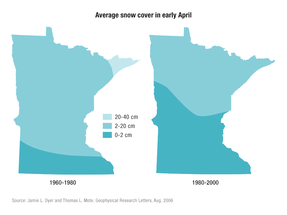 Average snow cover in April
