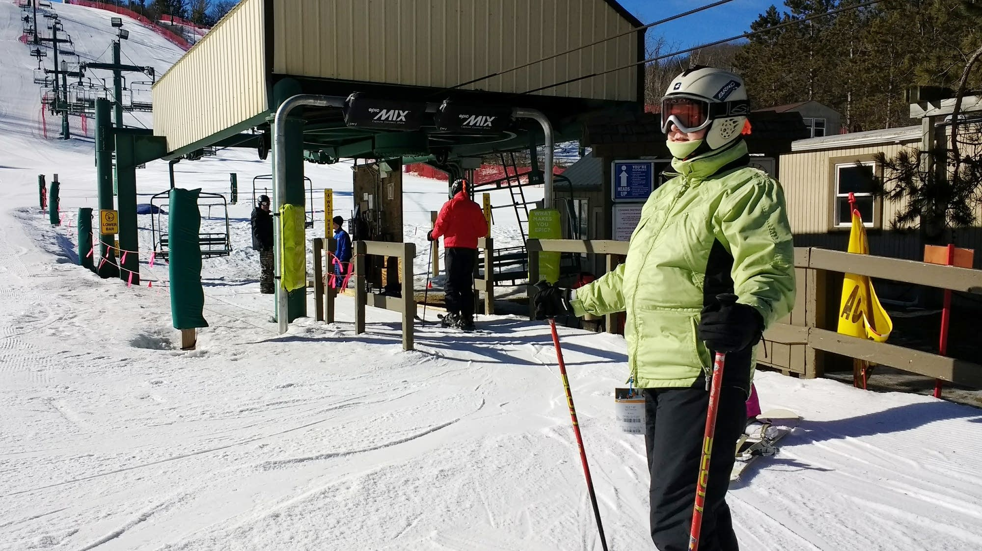 Bonnie Condit skis at Afton Alps.
