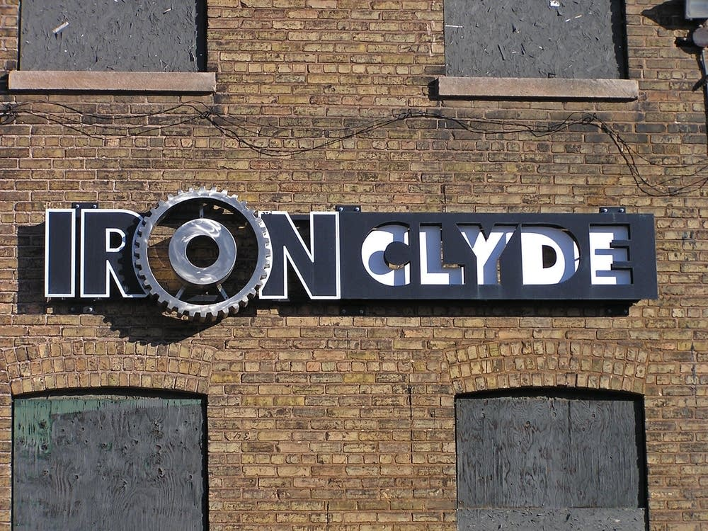 Clyde Iron Works sign