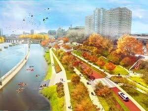 Water Works Park rendering