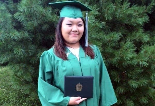 PaZoua Vue at her high school graduation