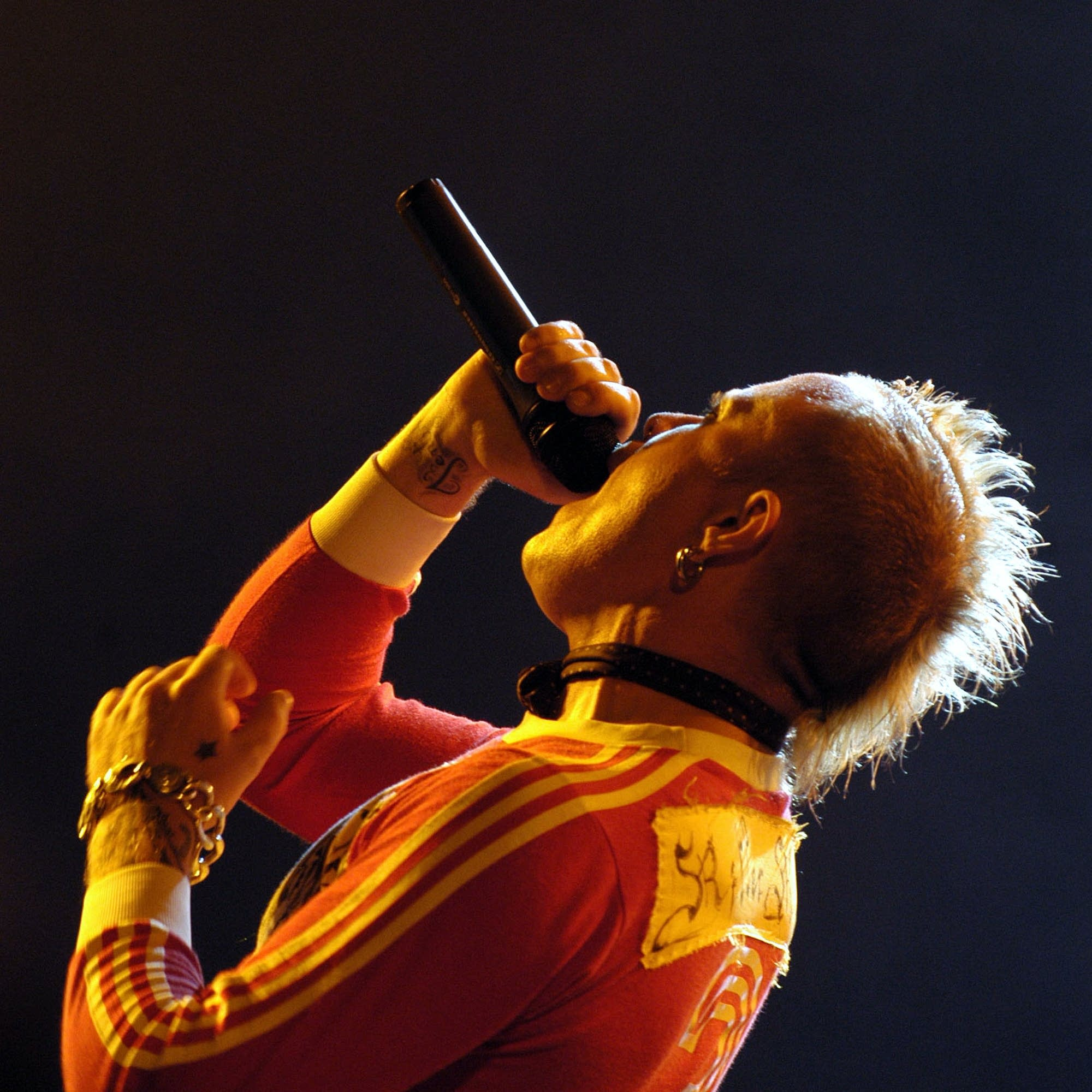 Keith Flint performs with the Prodigy in 2003.