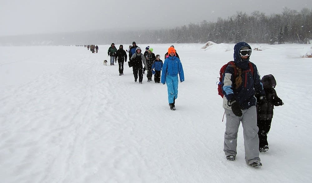 Nearly 2,000 hikers visited the sea caves Feb. 17.