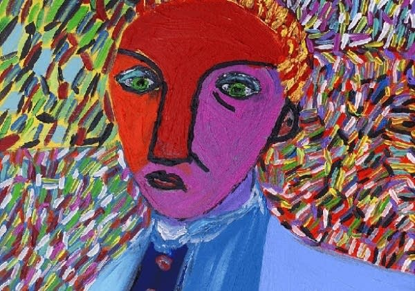 Outsider artist Jimmy Reagan loves to communicate through form and color.