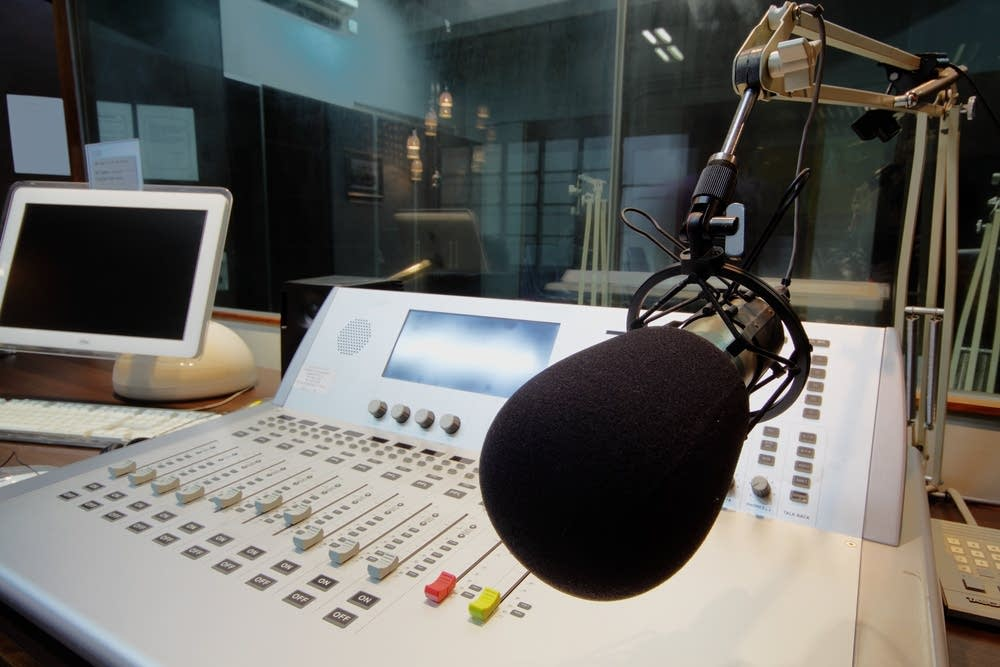 Mic in Broadcast Studio